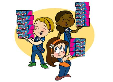 Brownie clipart girl guides. Scouts patch collecting blog