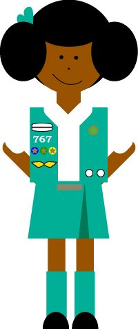 Girl scout clip art. Brownie clipart individual