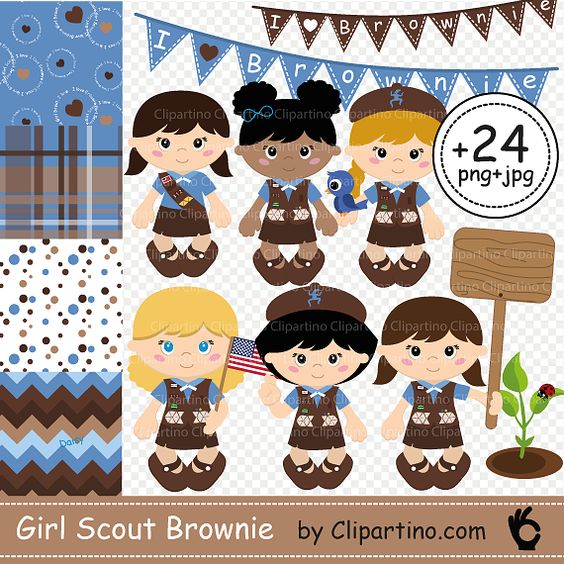 Cherryland auctions postcard auction. Brownie clipart individual