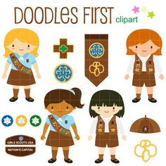 Brownie clipart individual. The explorer girls set
