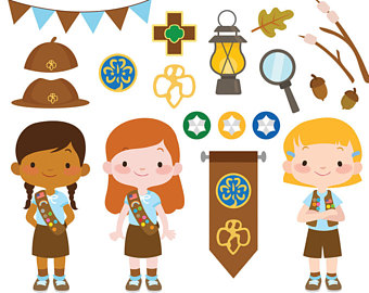 Clip art etsy girl. Brownie clipart individual