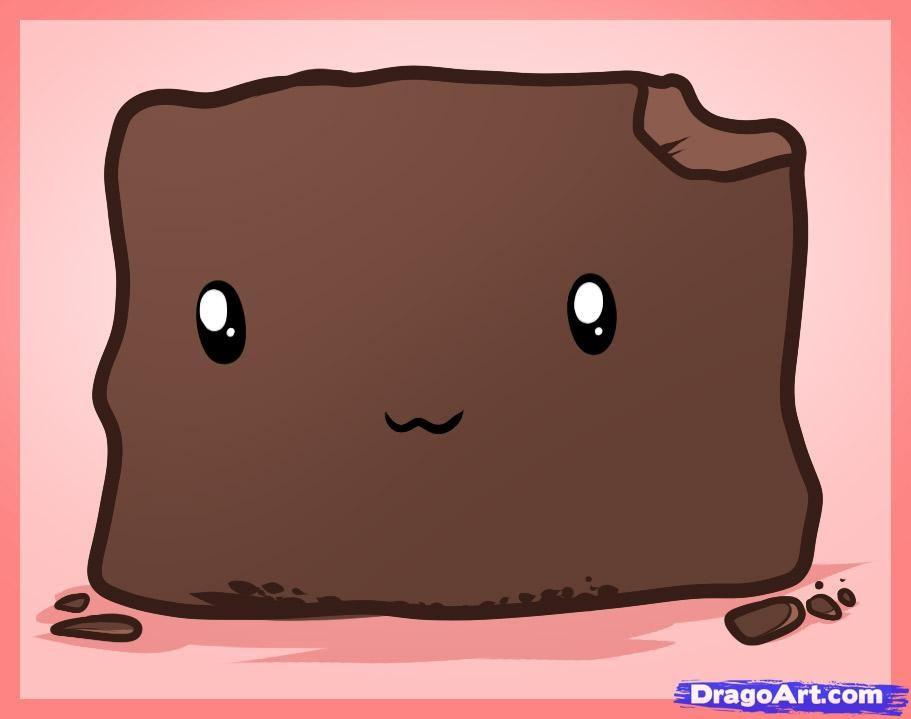How to draw a. Brownie clipart kawaii
