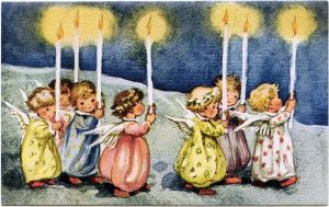 Candles clipart old fashioned. Vintage angel little angels