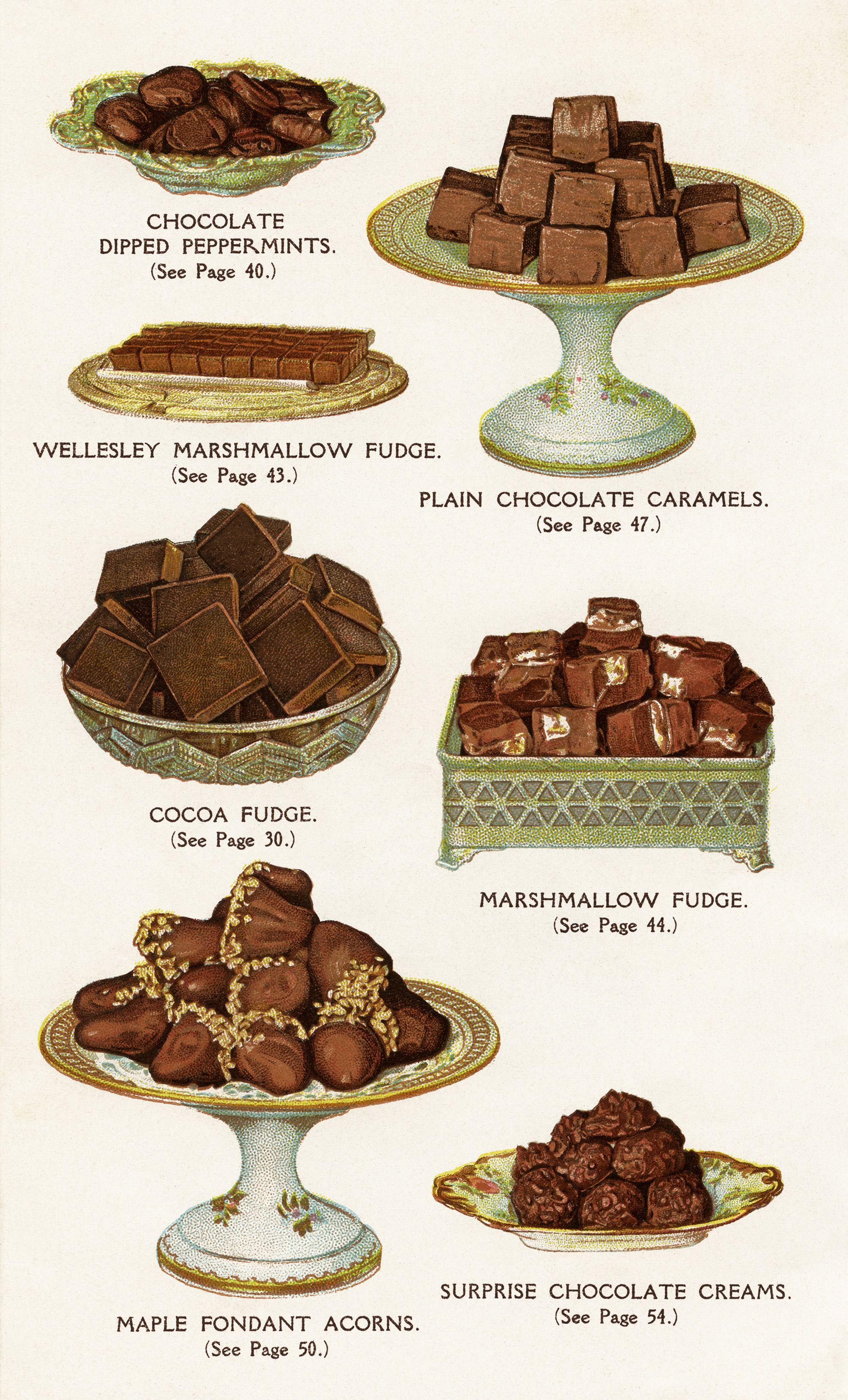 Chocolate dessert image old. Desserts clipart vintage