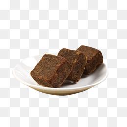 Brownie clipart plate brownie. Black sugar ginger tea