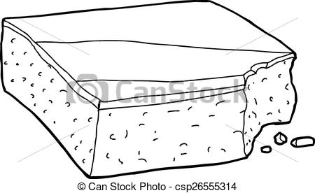 Brownie clipart plate brownie. Black and white pencil