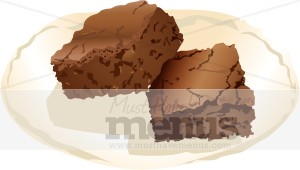 Brownie clipart plate brownie. Dessert images