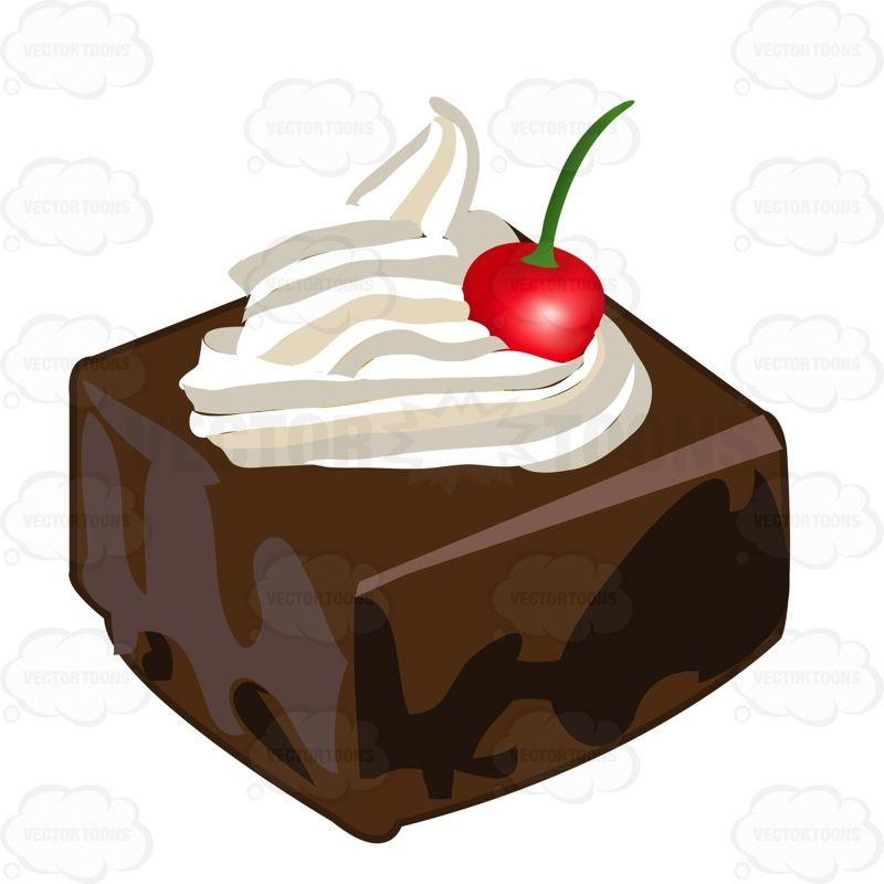Brownie clipart square chocolate. Dark cake piece with
