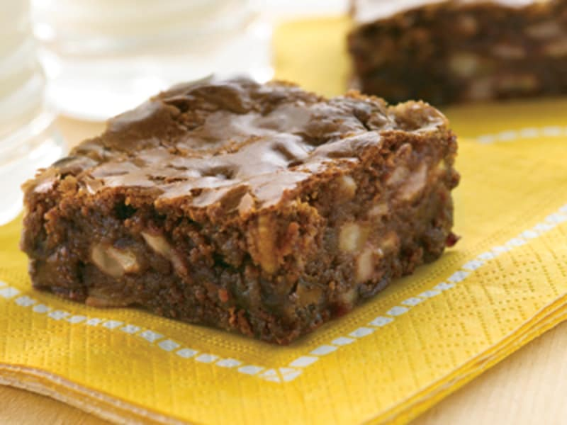 Easy double chip brownies. Brownie clipart square chocolate