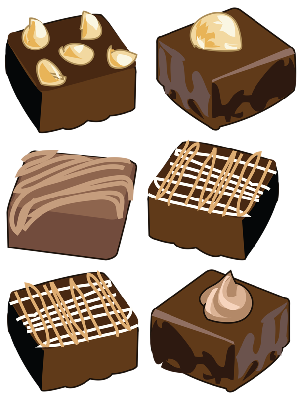 Brownie clipart transparent background.  collection of chocolate