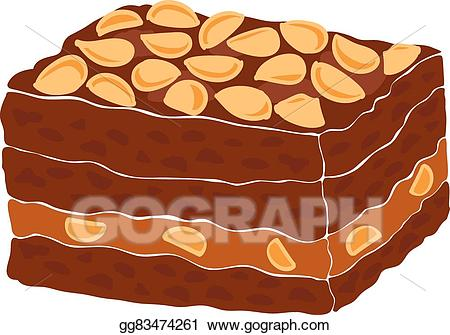 Illustration piece of a. Brownie clipart vector