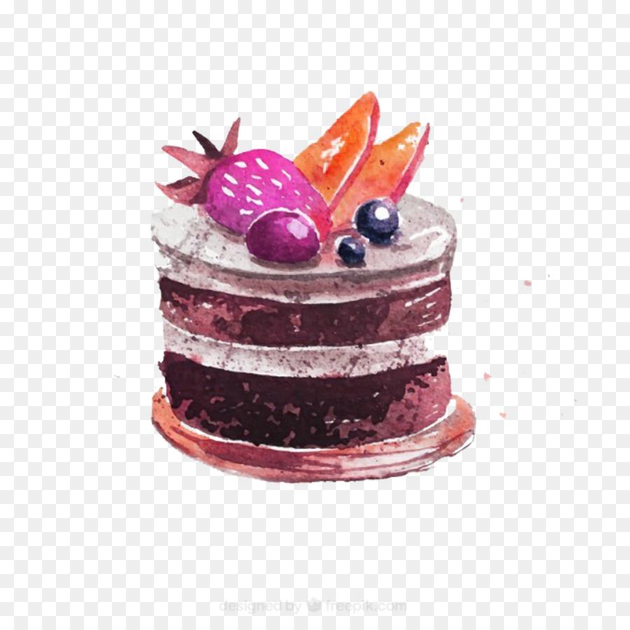 Brownie clipart watercolor. Cupcake chocolate cake bakery