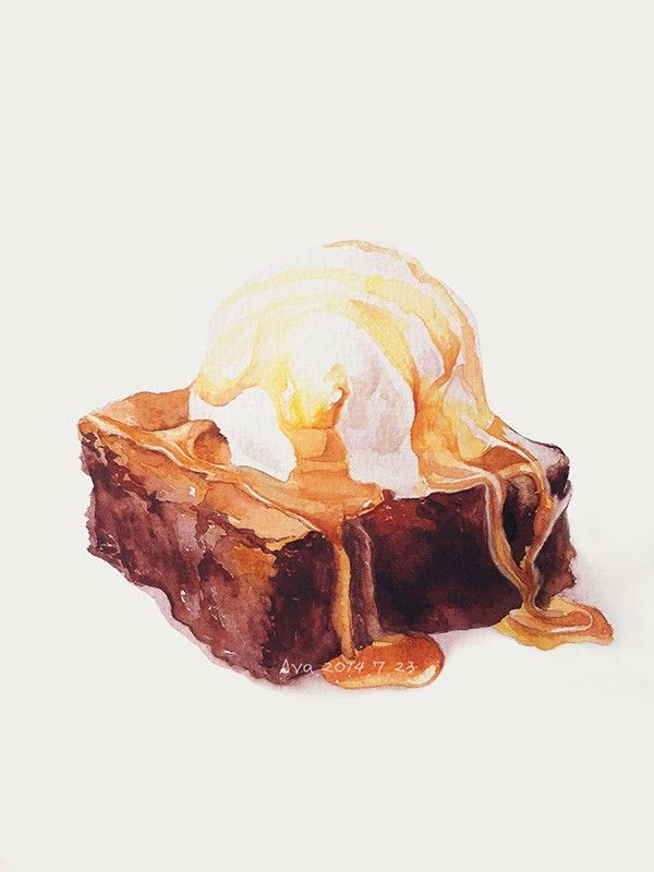 Brownie clipart watercolor.  best art images