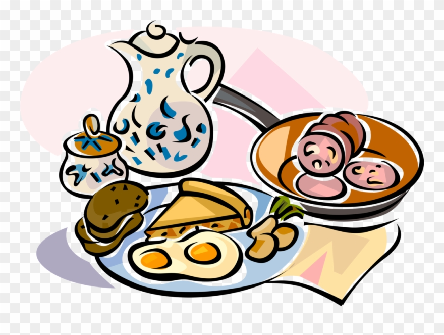 Brunch clipart. German breakfast image illustration