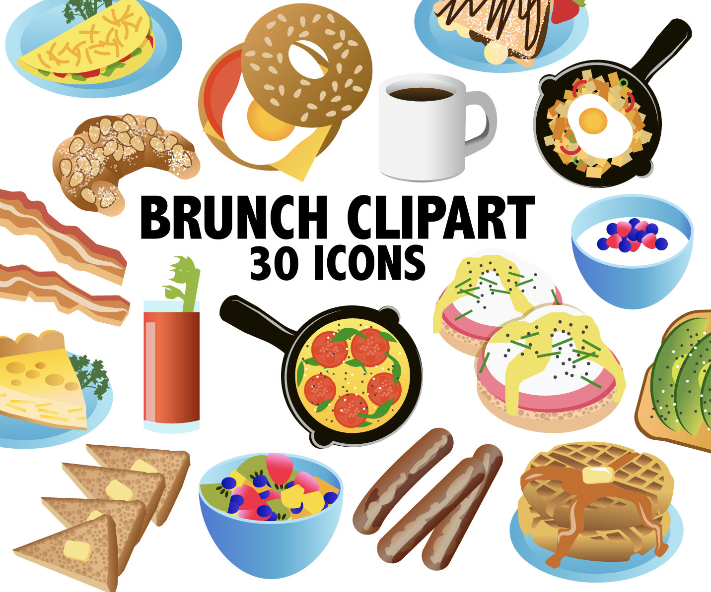 Breakfast clip art food. Brunch clipart