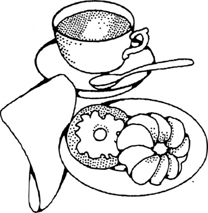 brunch clipart black and white