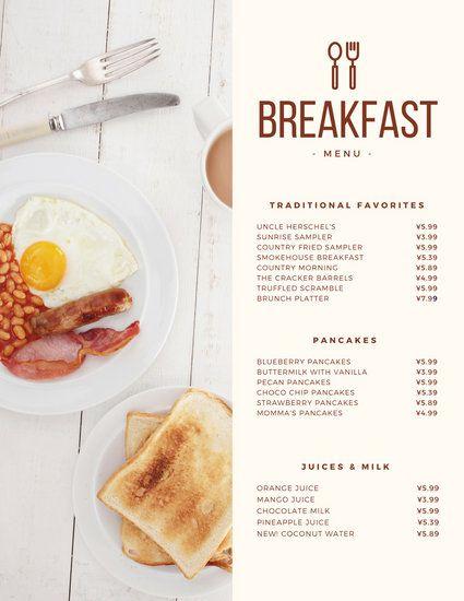 Brunch clipart breakfast continental. Modern menu photo design
