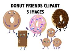 Clip art donut friends. Brunch clipart breakfast food