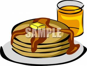 Pancake breakfast plate . Brunch clipart cartoon