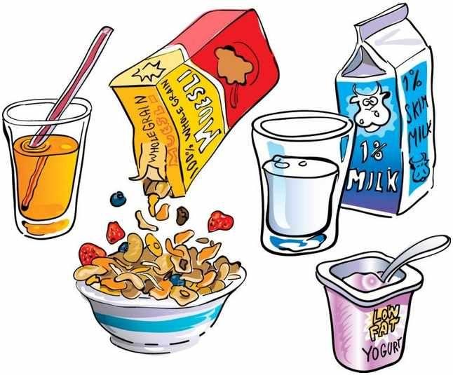 Brunch clipart cartoon. Breakfast clip art borders