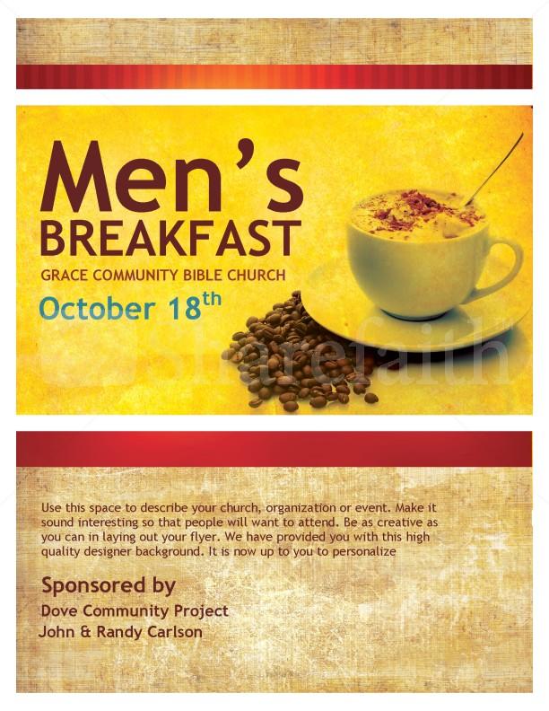 Flyer template breakfast clip. Brunch clipart church