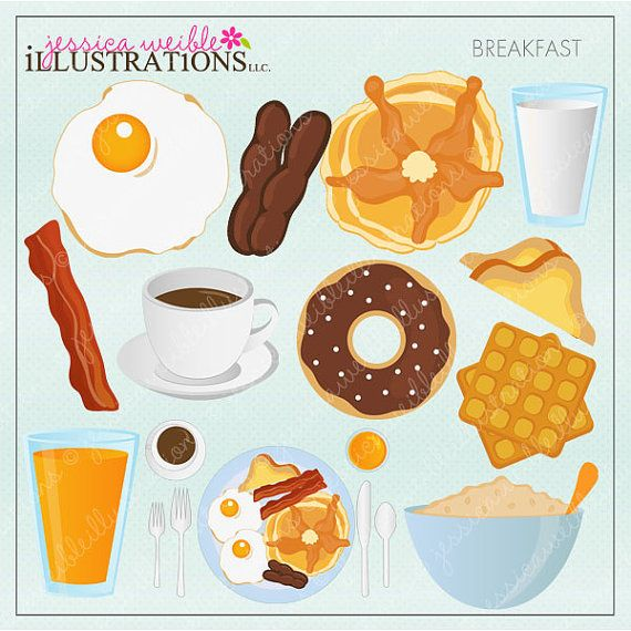 Fries clipart breakfast. Food digital clip art