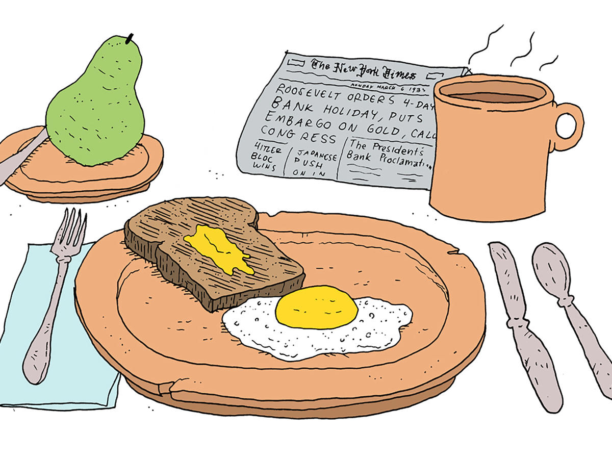Brunch clipart food service. American breakfast through the