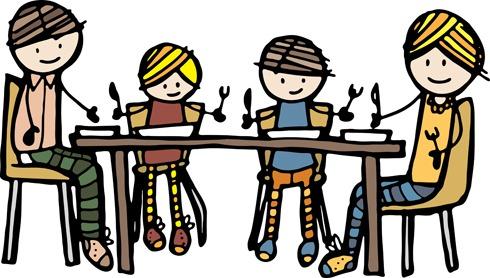 brunch clipart group dinner