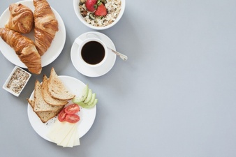 Brunch clipart healthy breakfast. Vectors photos and psd