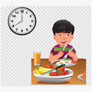 Brunch clipart healthy breakfast. Child eating food cartoon