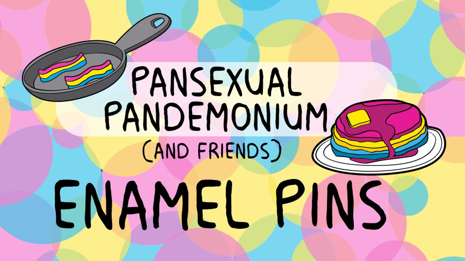 Pansexual pandemonium enamel pins. Brunch clipart lgbt