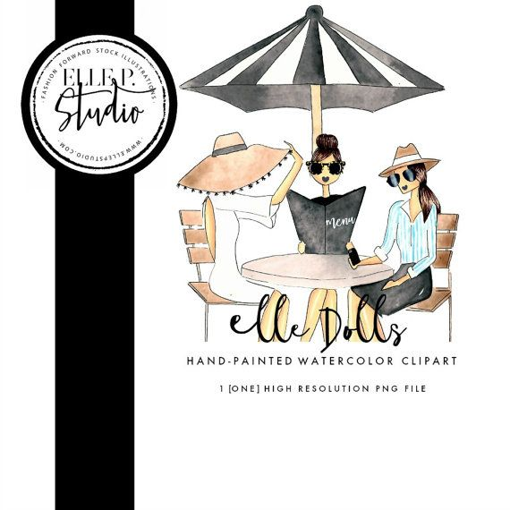 Ladies who illustration woman. Brunch clipart lunch