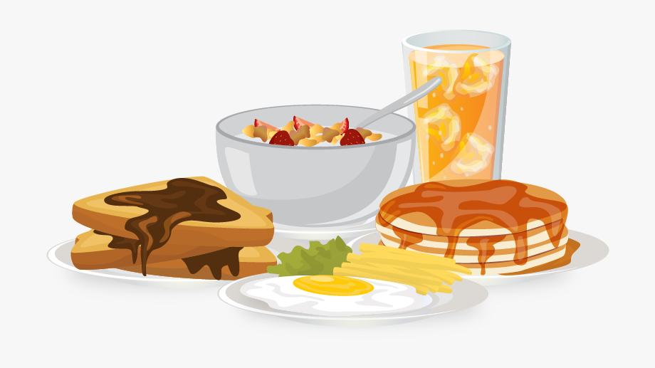 Breakfast food bread egg. Brunch clipart meal