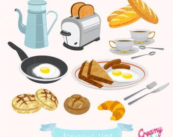 Brunch clipart meal. Breakfast clip art etsy