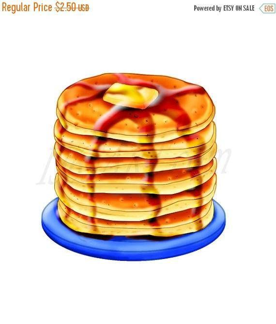 Brunch clipart pancake breakfast. Delicious pancakes meal digital