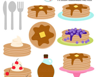 Etsy pancakes clip art. Brunch clipart pancake breakfast