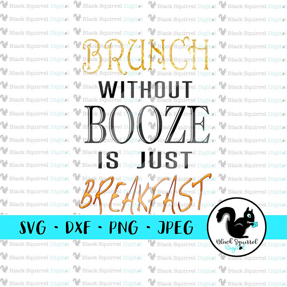 Without booze is just. Brunch clipart silhouette