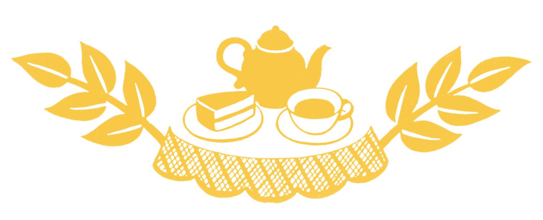Retro clip art tea. Brunch clipart silhouette