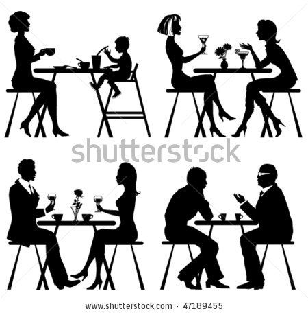 Brunch clipart silhouette.  best shell images