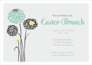 Brunch clipart spring. Printable elegant easter invitations
