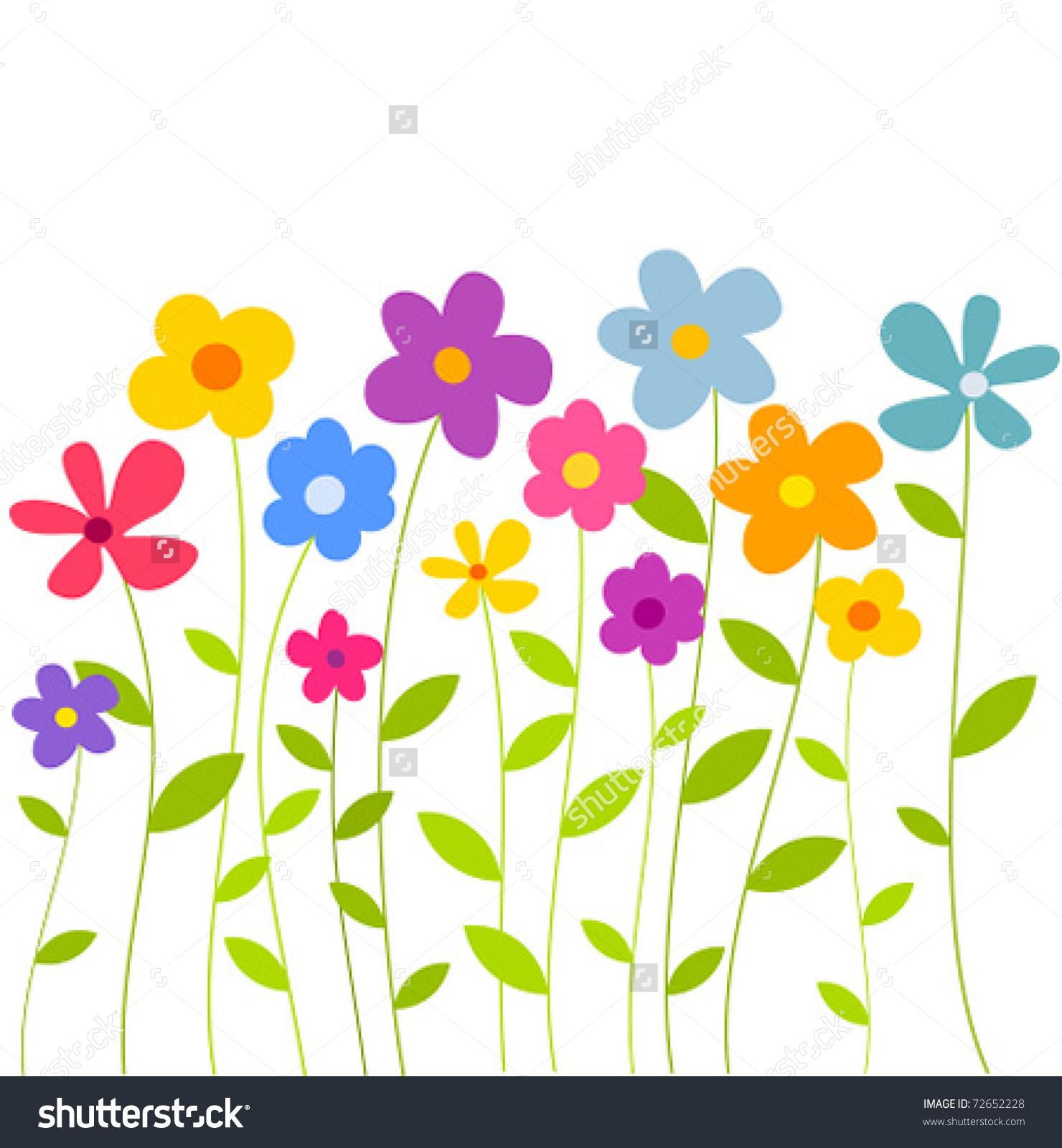 Flowers cartoon choice image. Brunch clipart spring