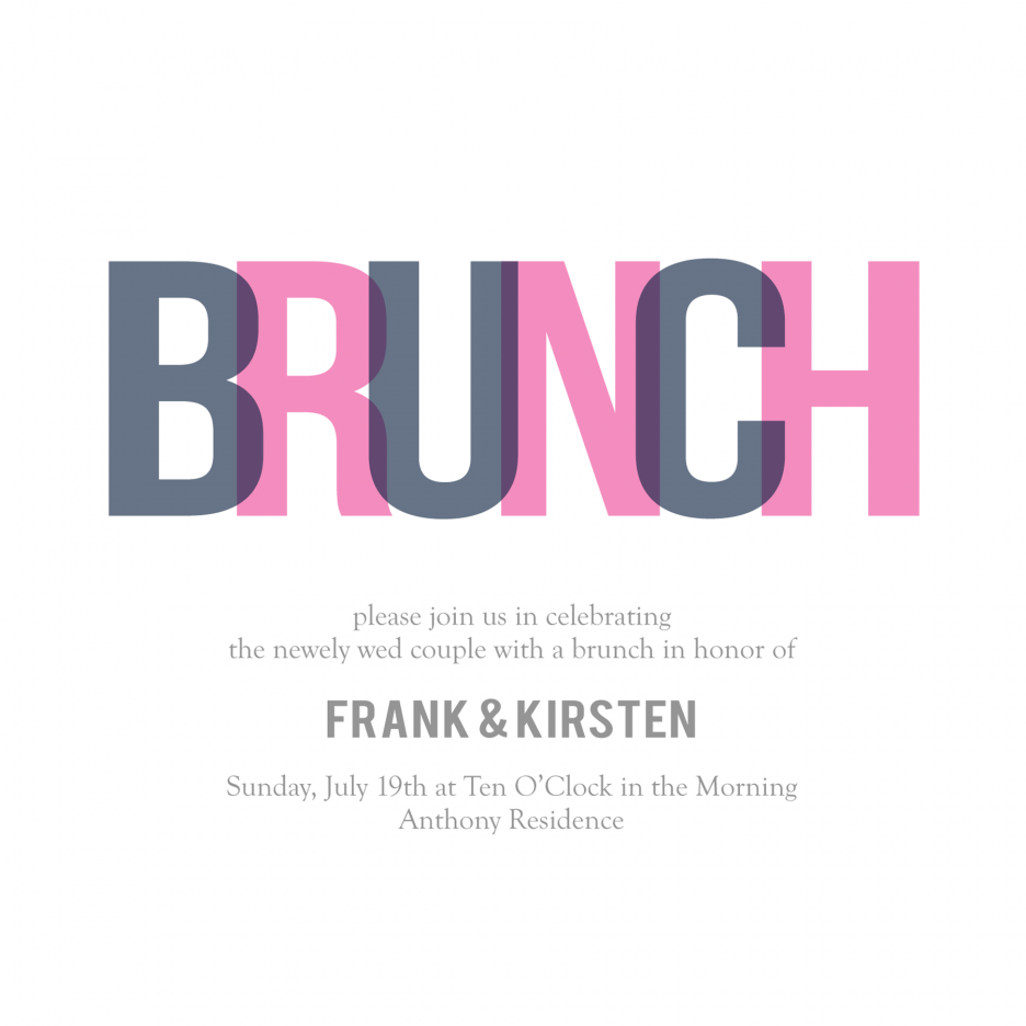 Brunch clipart sunday brunch. Simple invitation card with