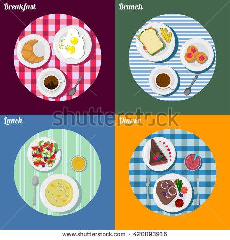 Brunch clipart supper. Captivating breakfast lunch dinner