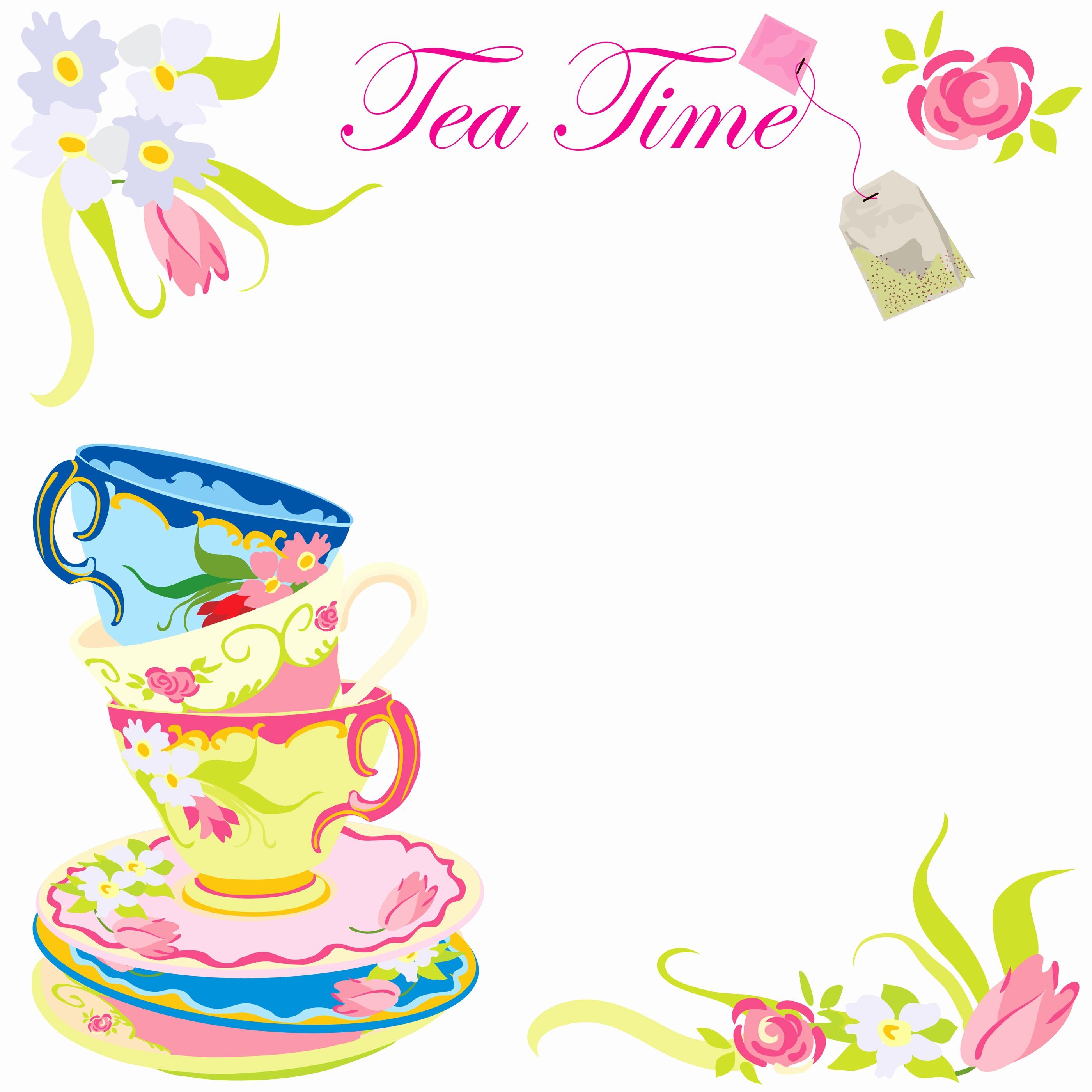 Brunch clipart tea time. Party templates incep imagine