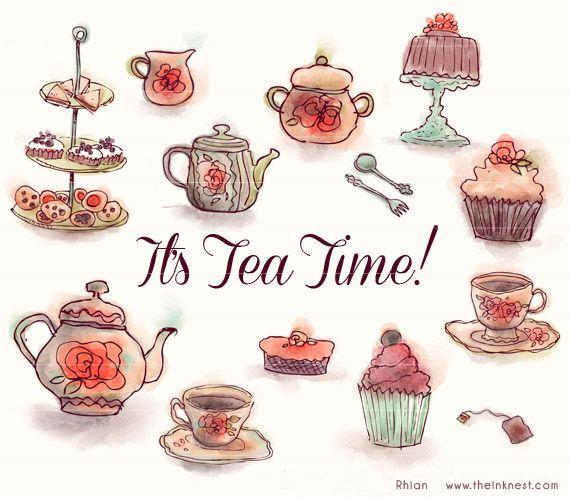 It s clip art. Brunch clipart tea time