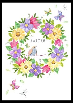 Victoria nelson easter floral. Brunch clipart victorian