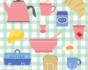 Brunch clipart victorian. Retro baking etsy breakfast