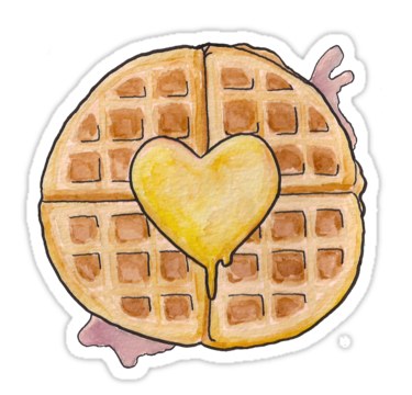 Heart stickers by condyak. Brunch clipart waffle