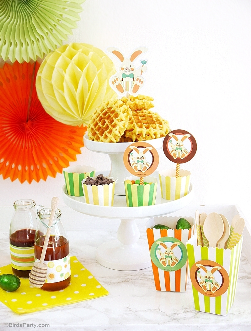How to set up. Brunch clipart waffle
