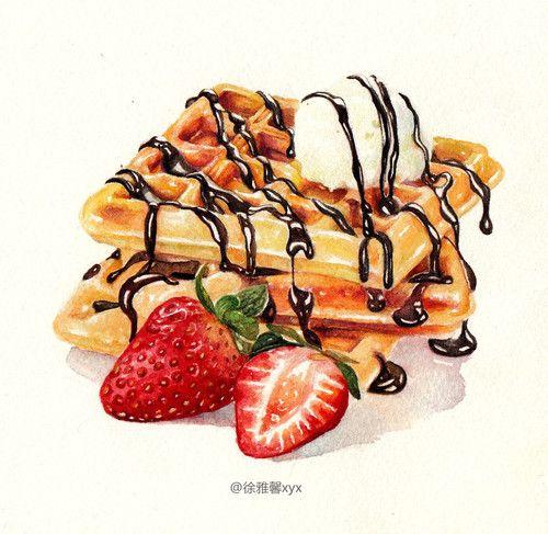 best brekfast food. Brunch clipart waffle